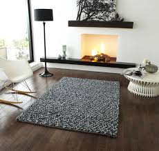 Modern Rugs Ltd by Pebbles Grey Pb 10 Hand Knotted Modern Shaggy Rug 120 X 170cm Sale