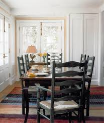 ladder back dining room chairs with farmhouse french doors