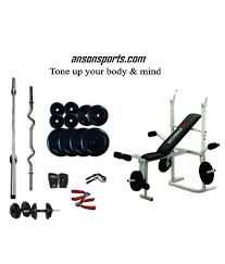Weight Bench Package Weight Lifting Package 100 Kg Imported Kamachi Multipurpose