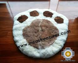 100 baby alpaca round shape rugs paw free shipping