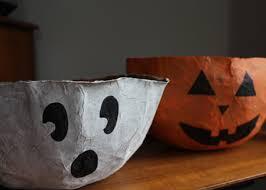 halloween craft paper bag candy bowls alpha mom