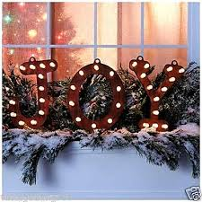 lighted christmas decorations indoor rustic lighted joy marquee sign indoor outdoor christmas decor