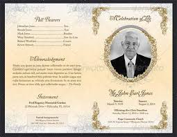 memorial program wording sle funeral program template 30 free documents in