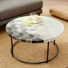 west elm concrete side table the most mosaic tiled coffee table blue penny west elm with tile