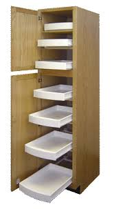 kitchen pantry cabinet with pull out shelves rkk rollout kitchen drawers all 3 high and 21 1 2 deep