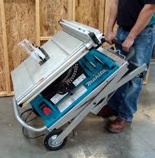 makita portable table saw makita 2705x1 review a contractor table saw