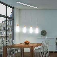 Wohnzimmer Lampe Holz Hänge Leuchte Beleuchtung Pendel Lampe Glas Opal Holz Eiche Ip20