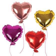 foil balloons mini heart foil balloons bonjour fête