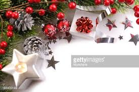 christmas background in redgreen and silver stock photo getty images