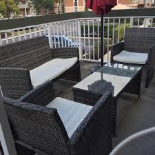 Patio Furniture Review Review Four Piece Rattan Patio Furniture Set By Goplus U2013 Mansion Like