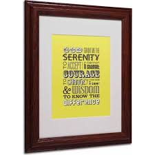 serenity prayer picture frame trademark serenity prayer canvas by megan romo wood