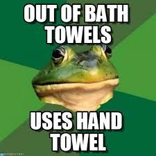 Bachelor Frog Meme - out of bath towels foul bachelor frog meme on memegen