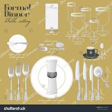 Dining Table Settings Pictures Formal Dinner Table Setting Formal Dining Stock Vector