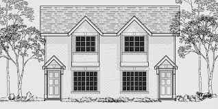 Duplex House Plans For Narrow Lots Narrow Lot Duplex House 16 Ft Wide Units