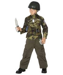Kids Army Halloween Costume Army Soldier Costume Kit Child Costume Kids Costumes