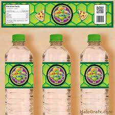 free printable tmnt ninja turtle water bottle labels projects