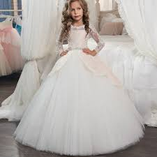 communion dress princess sleeves lace holy communion dresses pageant
