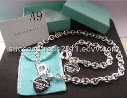silver chain necklace tiffany images Tiffany necklace and bracelet sets jpg