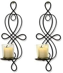 Flameless Candle Wall Sconce Set 2 Uttermost 13998 Zakaria Metal Wall Sconce Candle Holder In Aged