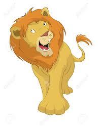 vector image big funny cartoon lion royalty free cliparts