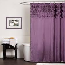 modern curtain ideas adorable white bathroom shower curtain with flower design girls