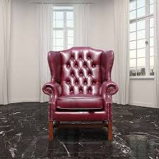 burgandy chesterfield georgian high back chair designersofas4u