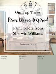 sherwin williams paint colors our top three fixer upper inspired paint colors from sherwin