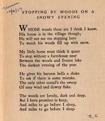 Robert Burns Halloween Poem Translation Stopping By Woods On A Snowy Evening
