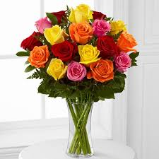 roses online 18 stem mixed roses online shop dubai gifts flowers to