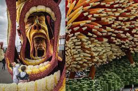 geoffroy mottart the annual u0027corso zundert u0027 parade honors van gogh with monumental