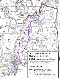 Ri Map Southeastern Rhode Island Interurbans