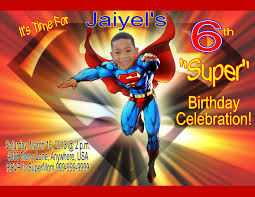 Personalized Birthday Invitation Cards Superman Birthday Invitations U2013 Gangcraft Net