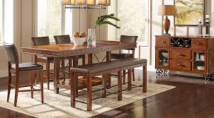 counter height dining room table sets hook pecan 5 pc counter height dining room dining room sets