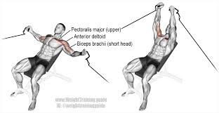 incline cable fly an isolation push exercise main muscles worked