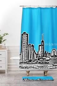 Skyline Shower Curtain Bird Ave Shower Curtains Deny Designs