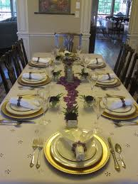 Gold Table Setting by Creative Hospitality Decorative Dinner Table Setting Ideas