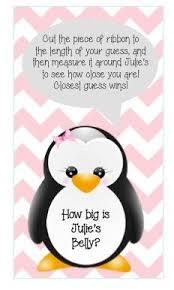 penguin baby shower pink snowflake penguin girl baby shower invitation printable diy