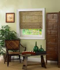decorating fantastic window decor with bamboo roman shades design