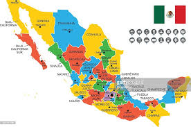 mexico map detailed vector map of mexico vector getty images