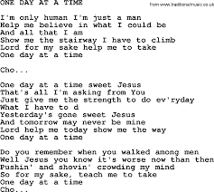 One Day At A Time by Kris Kristofferson Song One Day At A Time Txt Lyrics And Chords