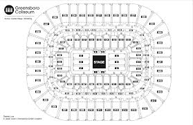Amphitheater Floor Plan by Seating Chart See Seating Charts Module Greensboro Coliseum