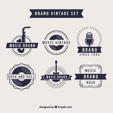 imagenes logos musicales logos retro de marca de música descargar vectores premium