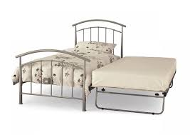 serene neptune 2ft6 small single silver metal guest bed frame by