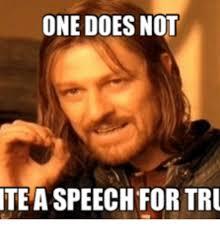Tru Meme - one does not tea speechfor tru tru meme on me me