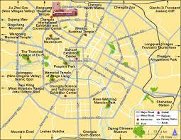 travel maps images Chengdu attraction map chengdu maps china tour advisors jpg