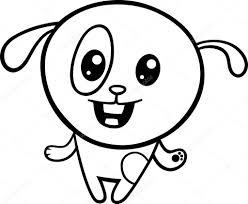 cartoon kawaii puppy coloring page u2014 stock vector izakowski