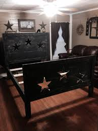 Country Primitive Home Decor Primitive Star Bed I Could Get Down With This For A Guest Room