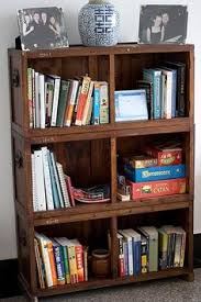 Wooden Crate Shelf Diy by Bookshelf Made Of Michaels U0027s Crates Crafts Pinterest Crate
