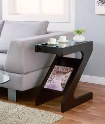 amazon com iohomes sana z shape end table with magazine rack