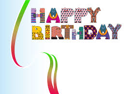 happy birthday design backgrounds for presentation ppt